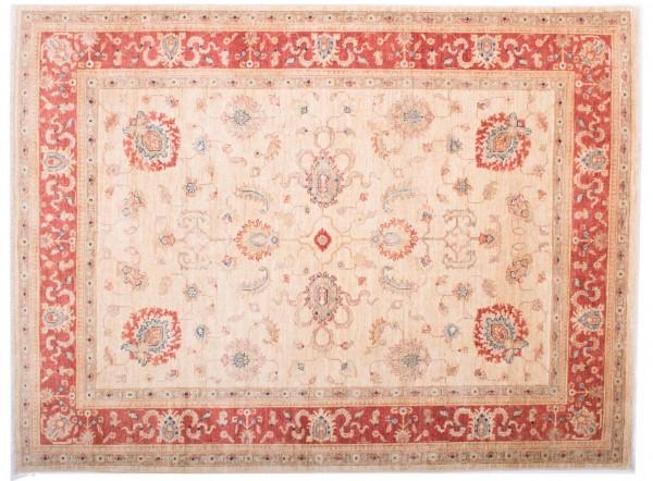 Afghan Chobi Ziegler Fein 196x147 Handgeknüpft Teppich 150x200 Beige Blumenmuster