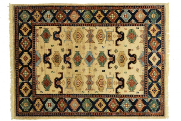 Afghan Chobi Ziegler 169x126 Handgeknüpft Teppich 130x170 Mehrfarbig Geometrisch Muster