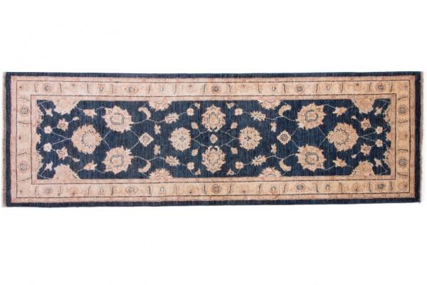 Afghan Chobi Ziegler 247x80 Handgeknüpft Teppich 80x250 Läufer Beige Blumenmuster
