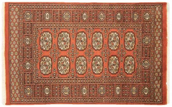 Pakistan Silk Touch 120x75 Handgeknüpft Teppich 80x120 Orange Orientalisch Kurzflor