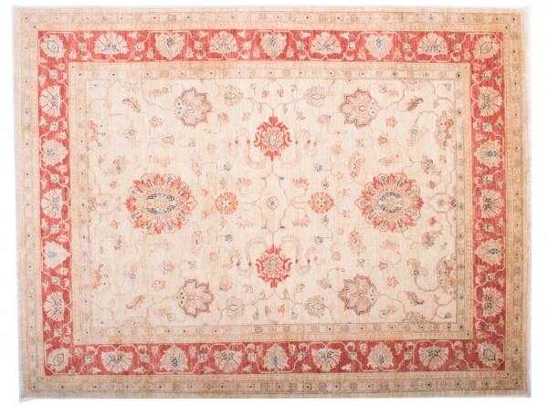 Afghan Chobi Ziegler Fein 197x152 Handgeknüpft Teppich 150x200 Rot Blumenmuster