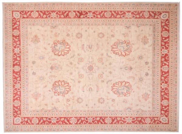 Afghan Chobi Ziegler Fein 300x249 Handgeknüpft Teppich 250x300 Beige Blumenmuster