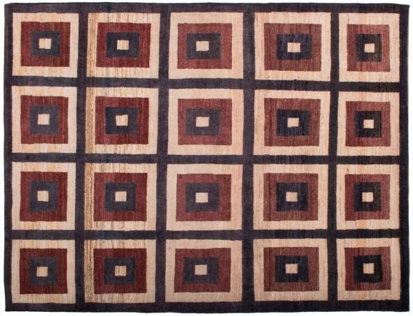 Afghan Modern Chobi Ziegler 194x149 Handgeknüpft Teppich 150x190 Braun Geometrisch