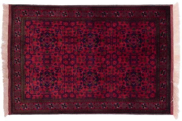 Afghan Belgique Khal Mohammadi 147x99 Handgeknüpft Teppich 100x150 Braun Geometrisch