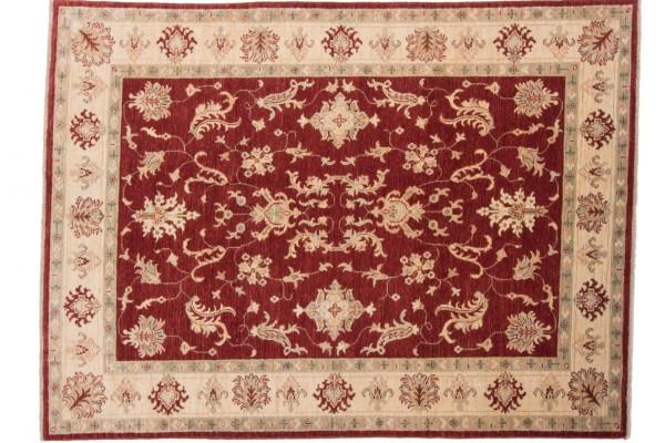 Afghan Chobi Ziegler 198x148 Handgeknüpft Teppich 150x200 Rot Orientalisch Kurzflor