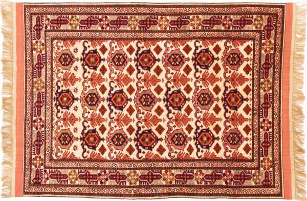 Afghan Mauri Kabul 151x113 Handgeknüpft Teppich 110x150 Orange Geometrisch Muster