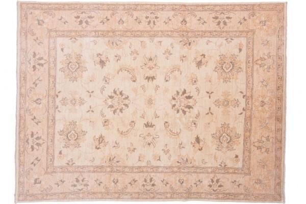 Afghan Chobi Ziegler 203x152 Handgeknüpft Teppich 150x200 Beige Orientalisch Kurzflor