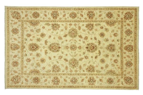 Afghan Chobi Ziegler 237x168 Handgeknüpft Teppich 170x240 Beige Floral Kurzflor Orient