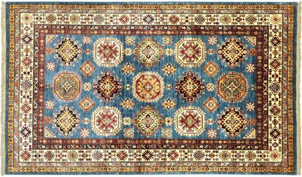 Afghan Kazak Fein 204x147 Handgeknüpft Orientteppich 150x200 Bunt Geometrisch Wolle