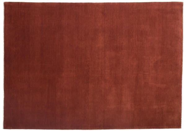 Loribaft 240x171 Handgeknüpft Teppich 170x240 Rot Einfarbig Kurzflor Orient Rug