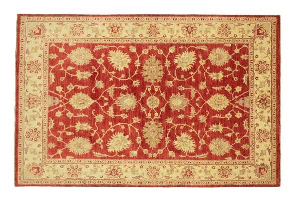 Afghan Chobi Ziegler 237x170 Handgeknüpft Teppich 170x240 Rot Floral Kurzflor Orient