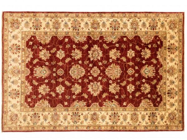 Afghan Chobi Ziegler 178x118 Handgeknüpft Teppich 120x180 Rot Blumenmuster Kurzflor