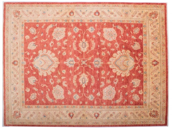 Afghan Chobi Ziegler Fein 197x149 Handgeknüpft Teppich 150x200 Rot Blumenmuster