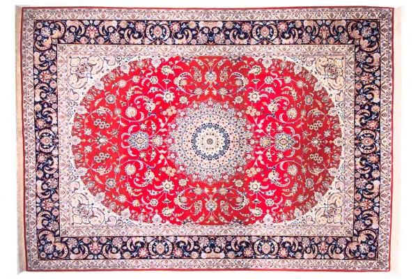 Perser Isfahan 360x256 Handgeknüpft Teppich 260x360 Mehrfarbig Orientalisch Kurzflor