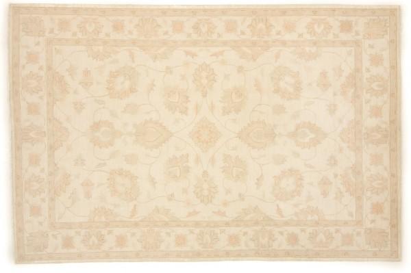 Afghan Chobi Ziegler 302x200 Handgeknüpft Teppich 200x300 Beige Orientalisch Kurzflor
