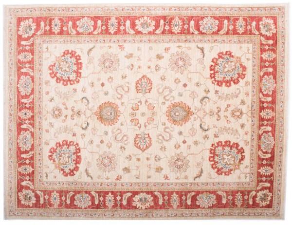 Afghan Chobi Ziegler Fein 191x147 Handgeknüpft Teppich 150x190 Beige Blumenmuster