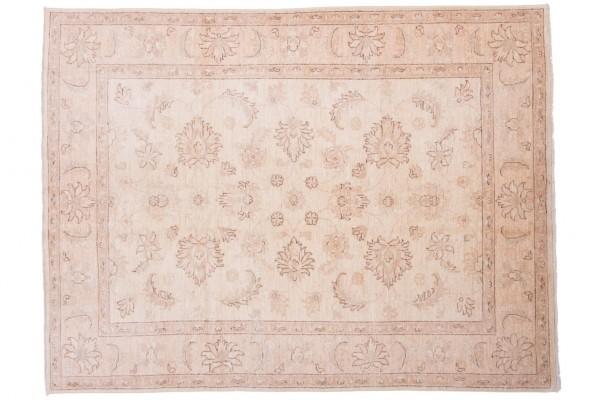 Afghan Chobi Ziegler 201x153 Handgeknüpft Teppich 150x200 Beige Orientalisch Kurzflor