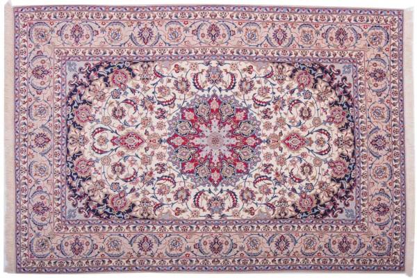 Perser Isfahan 231x154 Handgeknüpft Teppich 150x230 Mehrfarbig Orientalisch Kurzflor