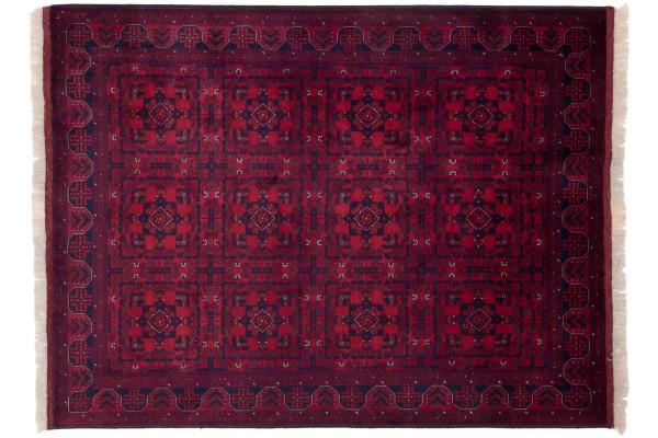 Afghan Belgique Khal Mohammadi 196x150 Handgeknüpft Teppich 150x200 Braun Geometrisch