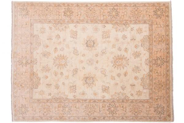 Afghan Chobi Ziegler 195x149 Handgeknüpft Teppich 150x200 Beige Orientalisch Kurzflor