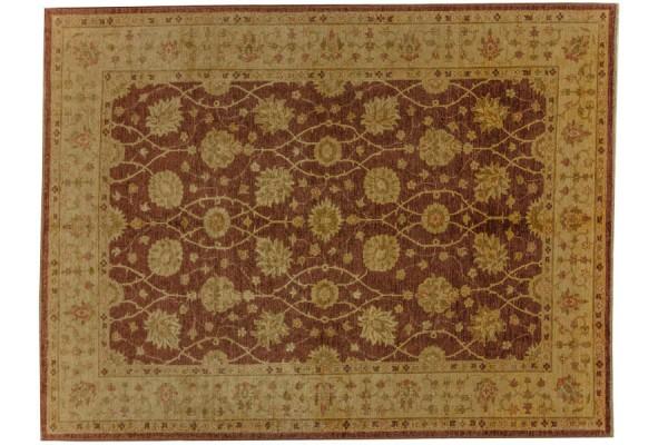 Afghan Chobi Ziegler 280x215 Handgeknüpft Teppich 220x280 Braun Orientalisch Kurzflor