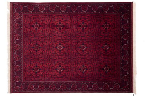 Afghan Belgique Khal Mohammadi 197x150 Handgeknüpft Teppich 150x200 Braun Geometrisch