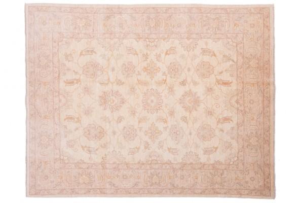 Afghan Chobi Ziegler 193x151 Handgeknüpft Teppich 150x190 Beige Orientalisch Kurzflor