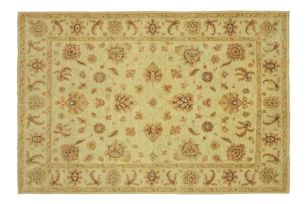Afghan Chobi Ziegler 234x175 Handgeknüpft Teppich 180x230 Beige Floral Kurzflor Orient