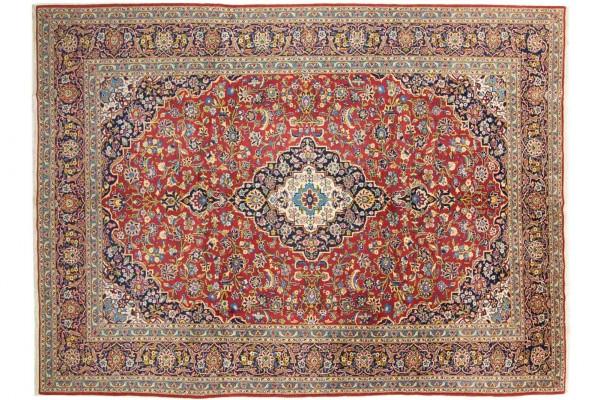 Perser Ardekan 355x253 Handgeknüpft Teppich 250x360 Rot Geometrisch Muster Kurzflor