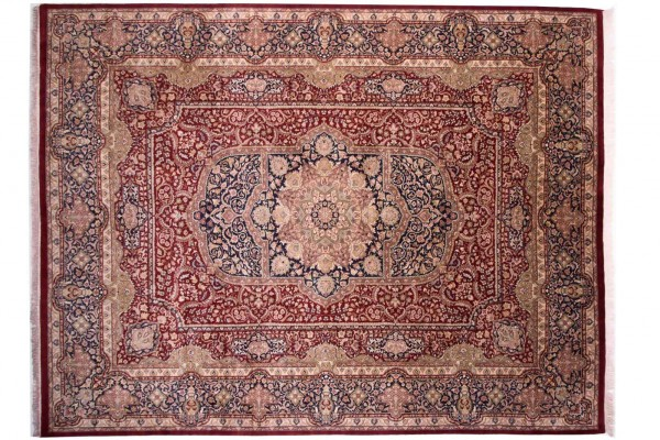 Afghan Chobi Ziegler Fein 365x281 Handgeknüpft Teppich 280x370 Rot Medaillon Kurzflor