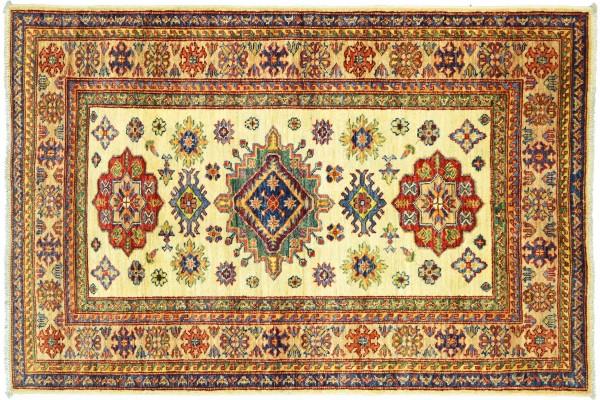 Afghan Kazak Fein 163x102 Handgeknüpft Orientteppich 100x160 Beige Umrandung Wolle