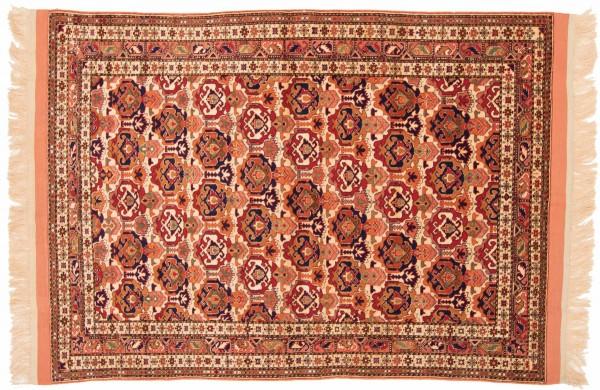 Afghan Mauri Kabul 157x119 Handgeknüpft Teppich 120x160 Braun Geometrisch Muster