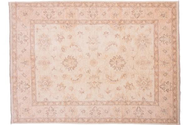 Afghan Chobi Ziegler 205x150 Handgeknüpft Teppich 150x210 Beige Orientalisch Kurzflor