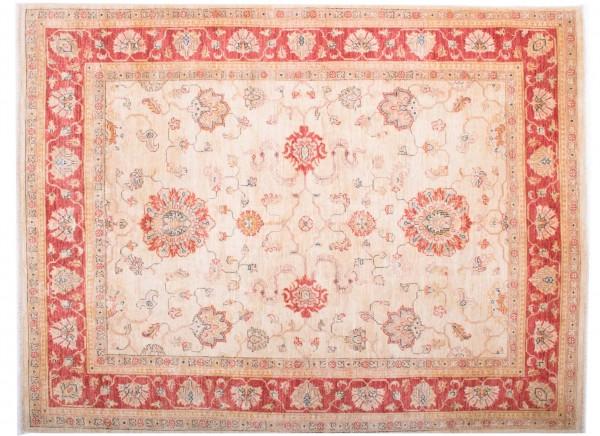 Afghan Chobi Ziegler Fein 197x151 Handgeknüpft Teppich 150x200 Beige Blumenmuster