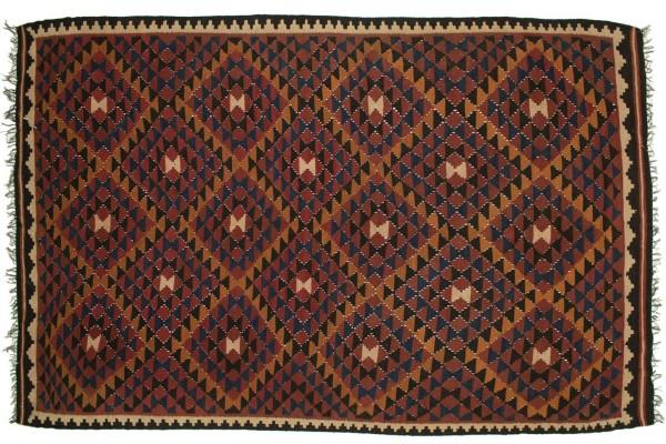 Afghan Maimana Kelim 253x170 Handgewebt Teppich 170x250 Mehrfarbig Orientalisch