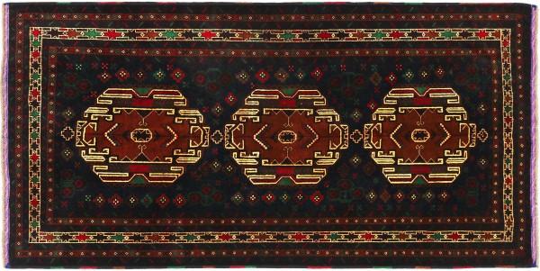 Afghan Belutsch Baluch 200x113 Handgeknüpft Orientteppich 110x200 Dunkelblau