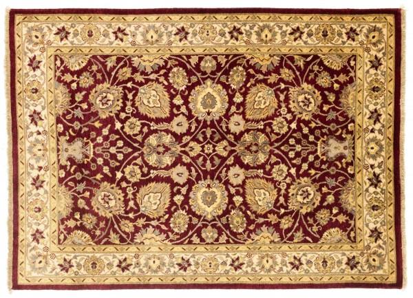 Afghan Chobi Ziegler Fein 176x126 Handgeknüpft Teppich 130x180 Beige Blumenmuster