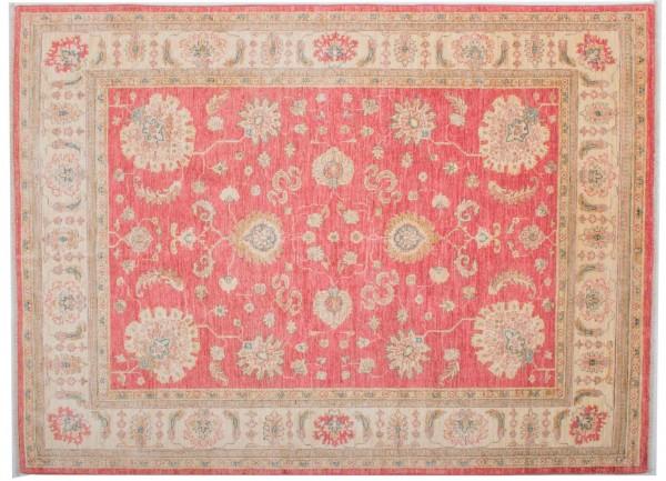 Afghan Chobi Ziegler Fein 199x146 Handgeknüpft Teppich 150x200 Beige Blumenmuster