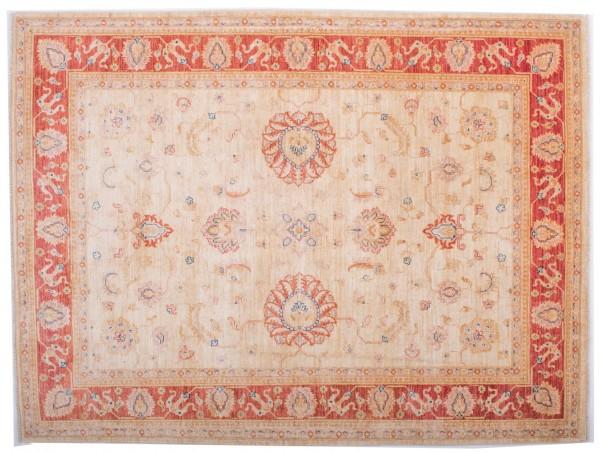 Afghan Chobi Ziegler Fein 198x151 Handgeknüpft Teppich 150x200 Rot Blumenmuster