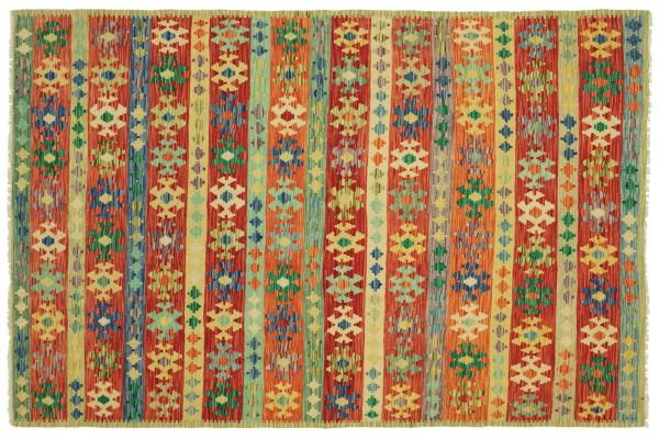 Afghan Maimana Kelim Bunt 248x182 Handgewebt Teppich 180x250 Bunt Geometrisch Orient
