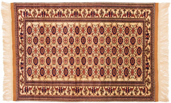 Afghan Mauri Kabul 163x118 Handgeknüpft Teppich 120x160 Braun Geometrisch Muster