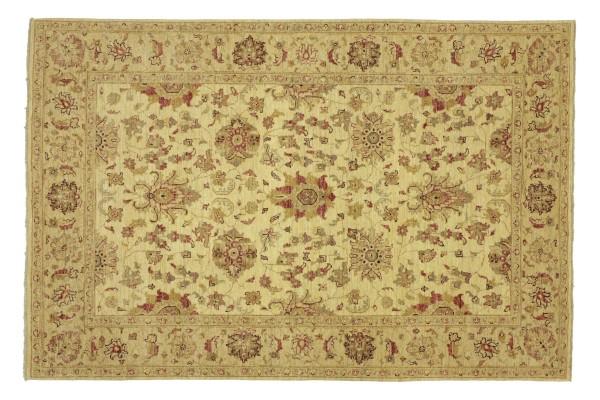 Afghan Chobi Ziegler 232x174 Handgeknüpft Teppich 170x230 Beige Floral Kurzflor Orient