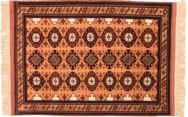Afghan Mauri Kabul 157x116 Handgeknüpft Teppich 120x160 Rot Geometrisch Muster Kurzflor