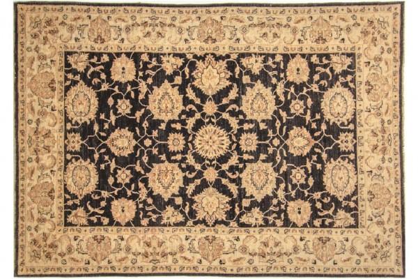 Afghan Chobi Ziegler 235x163 Handgeknüpft Teppich 160x240 Beige Blumenmuster Kurzflor