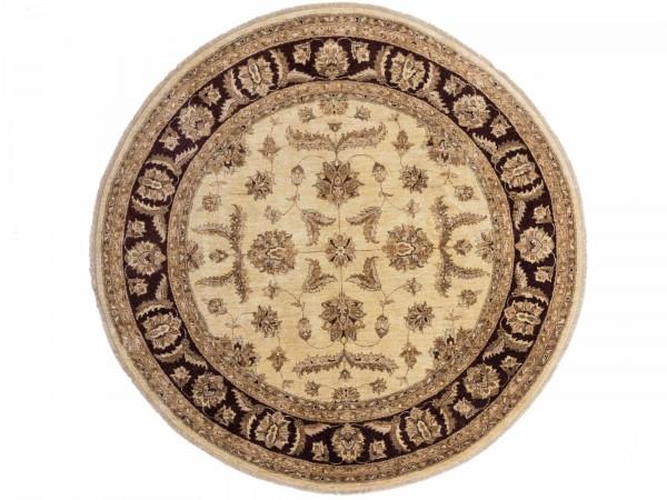 Afghan Chobi Ziegler 212x213 Handgeknüpft Teppich 210x210 Quadratisch Beige