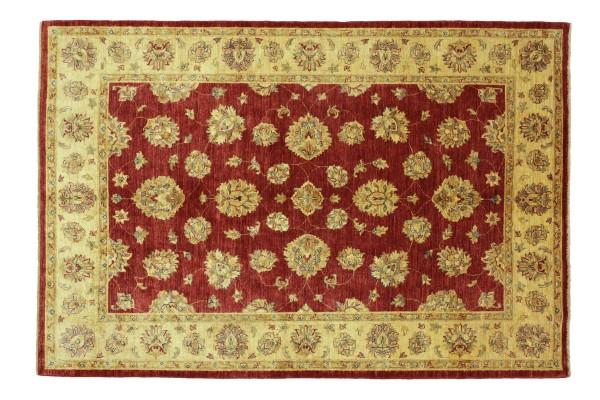 Afghan Chobi Ziegler 226x173 Handgeknüpft Teppich 170x230 Rot Floral Kurzflor Orient