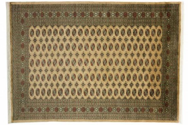 Pakistan Buchara 301x214 Handgeknüpft Teppich 210x300 Natur Orientalisch Kurzflor