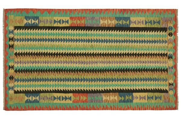 Afghan Maimana Kelim Bunt 253x166 Handgewebt Teppich 170x250 Bunt Geometrisch Orient