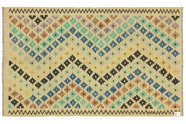 Afghan Maimana Kelim Bunt 244x167 Handgewebt Teppich 170x240 Bunt Geometrisch Orient