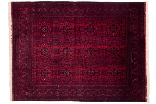 Afghan Belgique Khal Mohammadi 194x152 Handgeknüpft Teppich 150x190 Braun Geometrisch